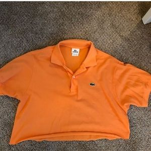 Lacoste Orange Cropped Polo Shirt